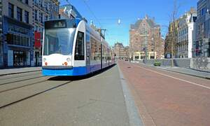 Number of people using Amsterdam public transport drops by more than half
