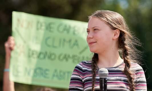 Activist Greta Thunberg protests against biomass power plant in Amsterdam