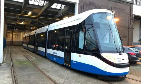 New 15G tram in Amsterdam gets a GVB makeover