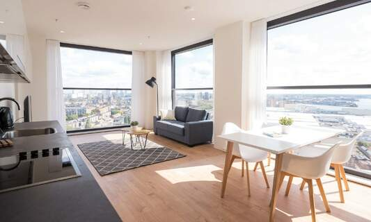 The Lee Towers: Luxurious long-stay apartments with views of Rotterdam