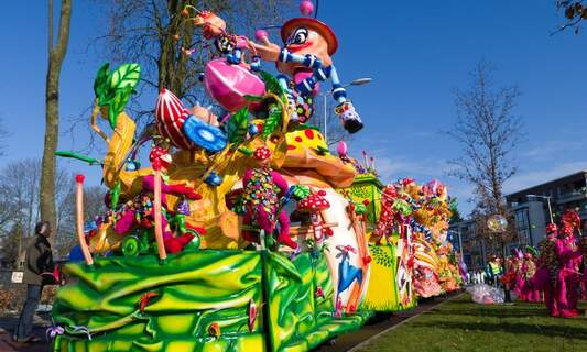 Typical Dutch weather for carnival in the Netherlands