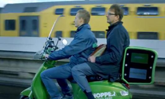Hopper scooter taxis offer cheap ride through Amsterdam