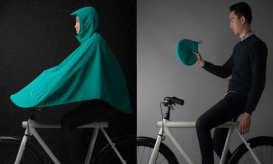 Stay dry cycling with this bike poncho from Amsterdam