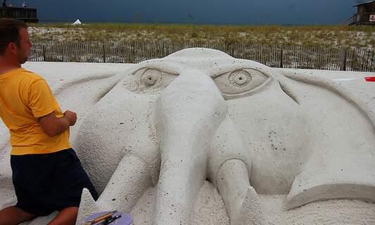 Sand Sculpture Festival in Scheveningen