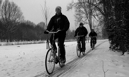 Possibility of heated bike paths in the future