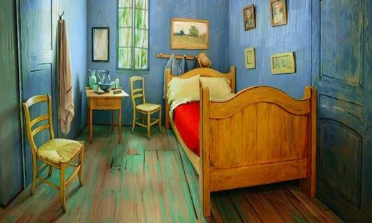 Spend the night in Van Gogh's famous bedroom painting