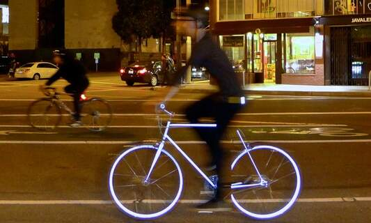 Lumen: the glow in the dark bicycle