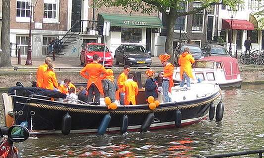 Win one double ticket for Queen's Day boat party