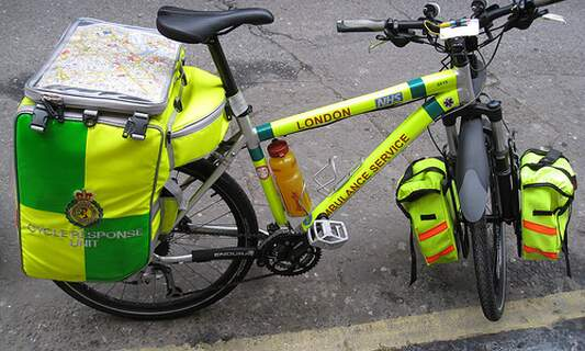 Bicycle ambulances in The Hague