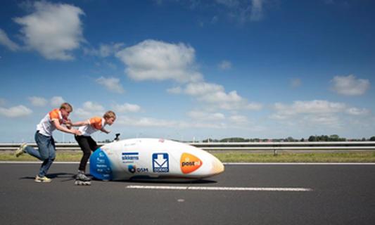 Dutch students set world record with high-tech bike design