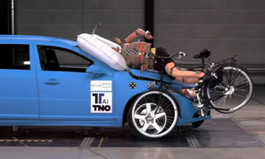 New airbags for cars to protect cyclists & pedestrians