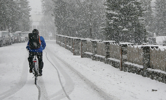 New website for reporting slippery bike paths