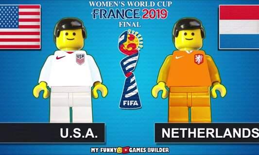 [Video] Women's World Cup Final highlights as Lego: USA vs NL